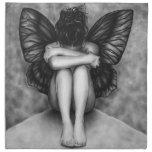Sad Butterfly Girl Napkin