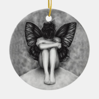 Sad Butterfly Girl Ornament