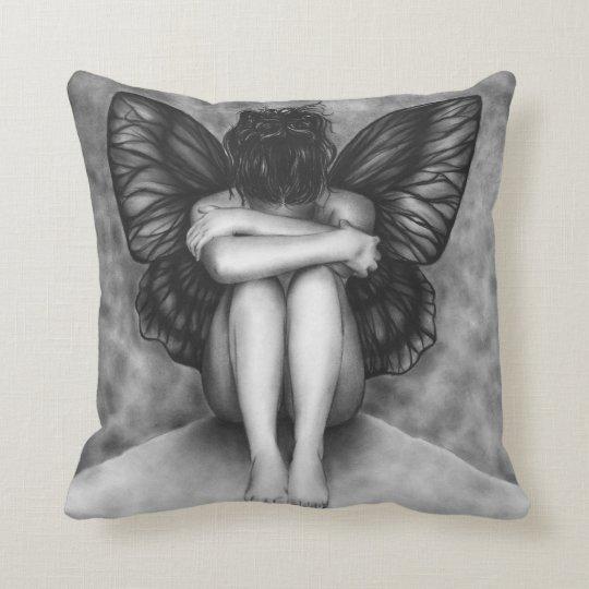 Sad Butterfly Girl Pillow