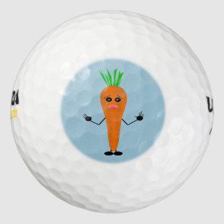 Sad Carrot Golf Balls