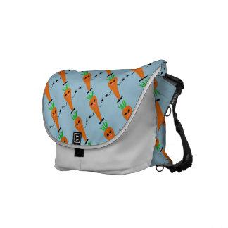 Sad Carrot Messenger Bags
