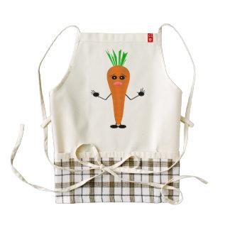 Sad Carrot Zazzle HEART Apron