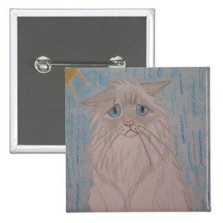 Sad Cat 2 Inch Square Button