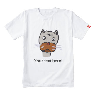 Sad cat cartoon zazzle HEART T-Shirt