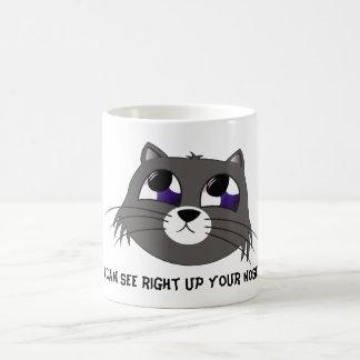 Sad Cat Classic White Coffee Mug