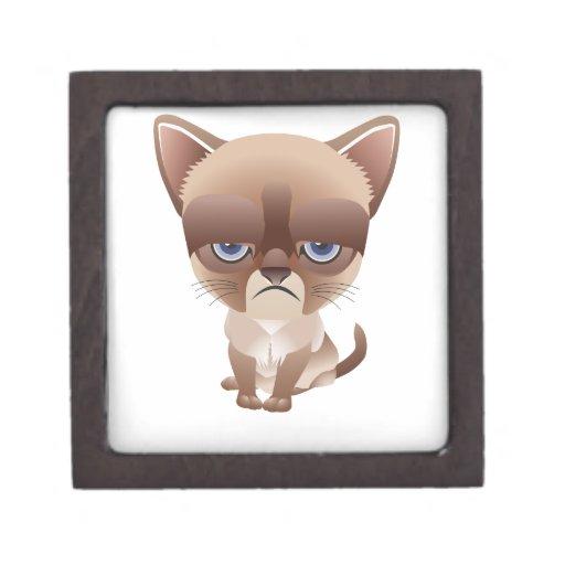 Sad Cat Premium Trinket Boxes