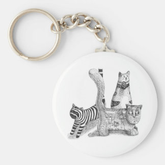 Sad cats key chains