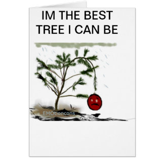 Sad Christmas Tree Card