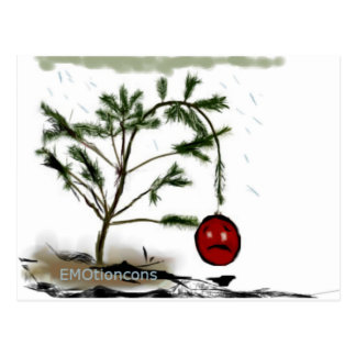 Sad Christmas Tree Postcard