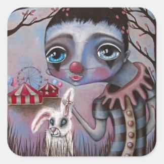 Sad Circus Clown Sticker Sheet