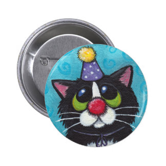 Sad Clown Cat Button