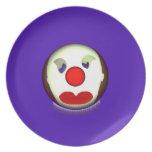 Sad Clown Dinner Plate