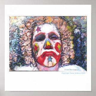 """Sad Clown """"Dubie Hummingbyrd"""" Poster"""