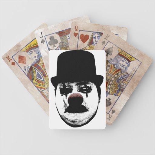Sad Clown Mime Bicycle Poker Cards