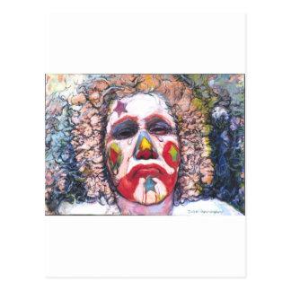 Sad Clown Postcard