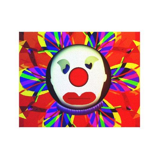 Sad Clown Stretched Canvas Print