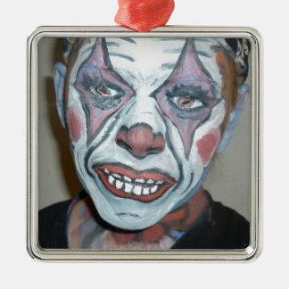 Sad Clowns Scary Clown Face Painting Christmas Tree Ornament