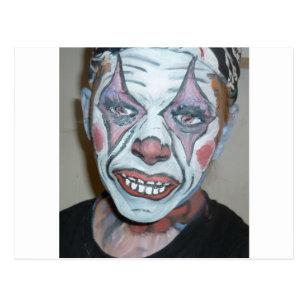 0eae56426 Sad Clowns Scary Clown Face Painting Postcard