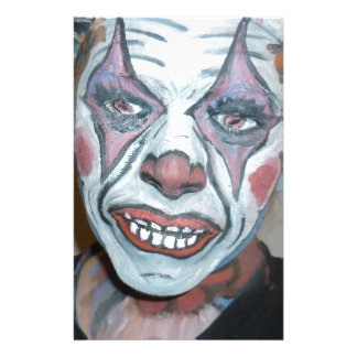 Sad Clowns Scary Clown Face Painting Stationery Design