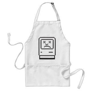 Sad Computer Icon Adult Apron