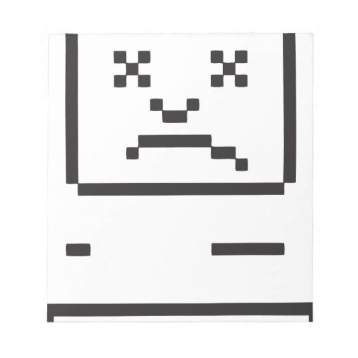 Sad Computer Icon Memo Notepad