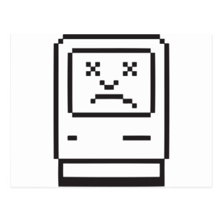 Sad Computer Icon Postcard