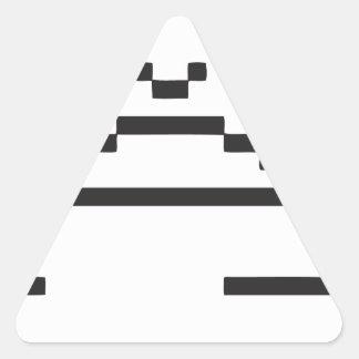 Sad Computer Icon Triangle Sticker