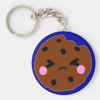 Sad Cookie Basic Round Button Keychain