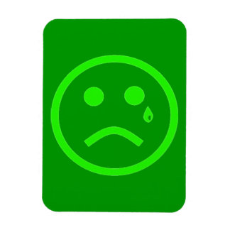 SAD CRY TEAR GREEN SMILEY FACE EMOTIONS MISSING YO MAGNET