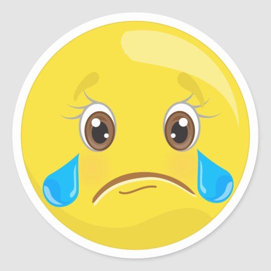 sad crying emoji stickers zazzle com