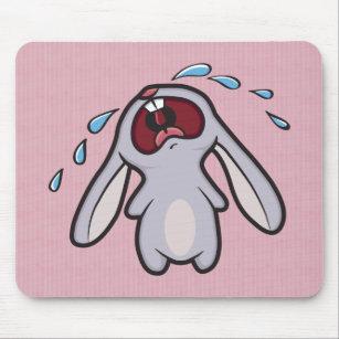 Sad Crying Rabbit   Bawling Bunny Mouse Pad
