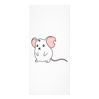 Sad Crying Weeping White Mouse Card Stamp Labels Customized Rack Card