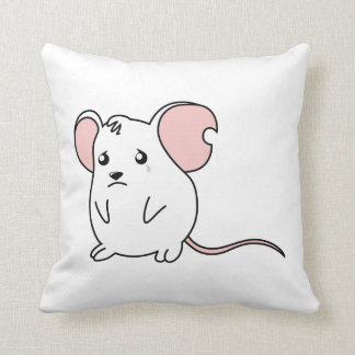 Sad Crying Weeping White Mouse Pillow Button Pin