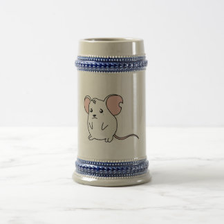 Sad Crying Weeping White Mouse Pillow Button Pin Beer Stein