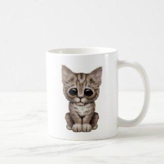 Sad Cute Brown Tabby Kitten Cat