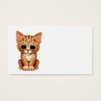 Sad Cute Orange Tabby Kitten Cat Business Card