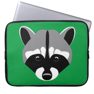 Sad Cute Raccoon Laptop Computer Sleeve