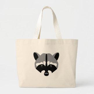 Sad Cute Raccoon Large Tote Bag