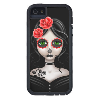 Sad Day of the Dead Girl on Black iPhone SE/5/5s Case