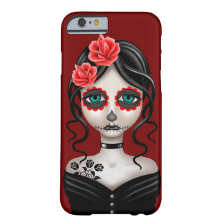 Sad Day of the Dead Girl on Red iPhone 6 Case