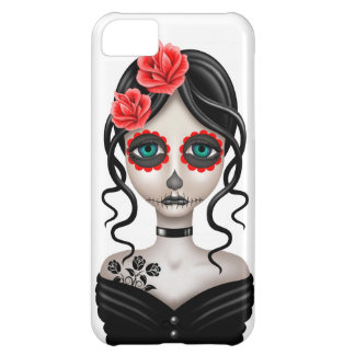 Sad Day of the Dead Girl on White iPhone 5C Case
