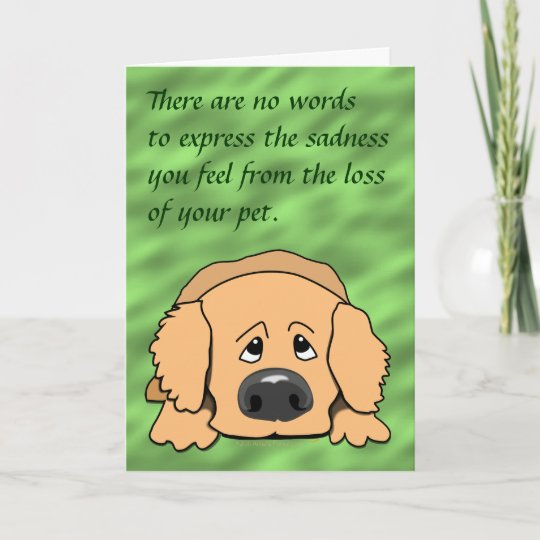 Loss Of Pet >> Sad Dog Cartoon Pet Sympathy Card For Loss Of Pet