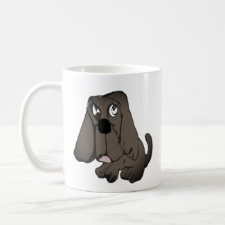 Sad dog coffee mug