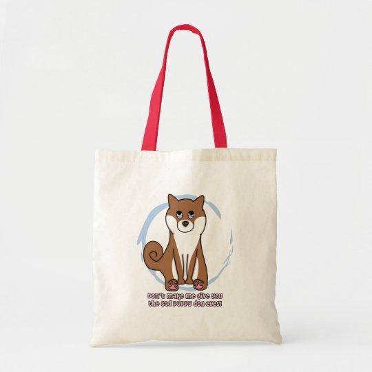 Sad Dog Eyes Shiba Inu Tote Bag