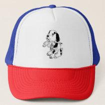 Sad Dog With Broken Leg Trucker Hat