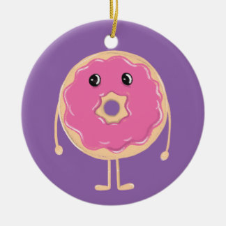 Sad Doughnut Ceramic Ornament