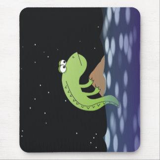 Sad Dragon at Night Illustration Mousepad