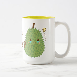 Sad Durian that gets no hugs Two-Tone Coffee Mug