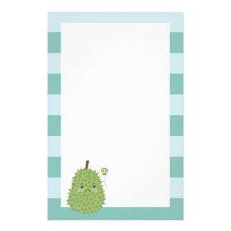 Sad Durian that gets no hugs Customized Stationery