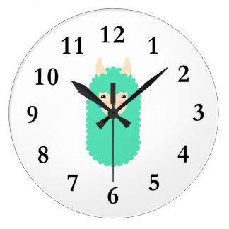 Sad Emoji Llama Large Clock